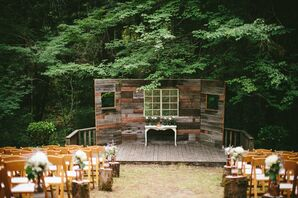 Handmade, Reclaimed Wood Ceremony Backdrop