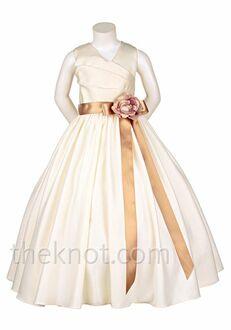 Pink Princess D2900 Brown Flower Girl Dress
