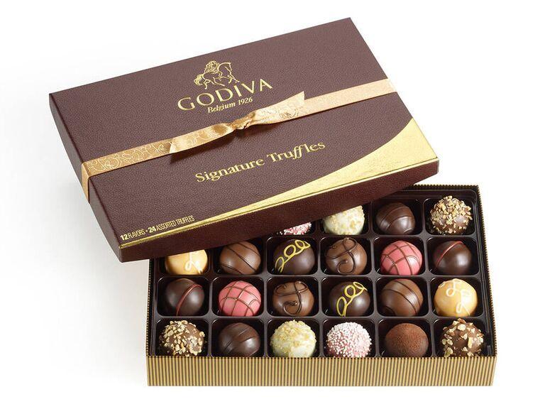 Godiva chocolates 5 year anniversary gift