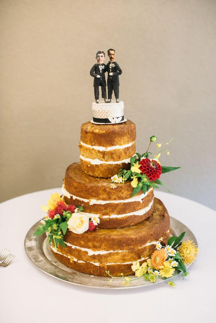 Naked Carrot Cake with Custom Topper