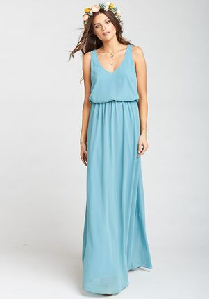 Show Me Your Mumu Kendall Maxi Dress - Poolside Chiffon V-Neck Bridesmaid Dress