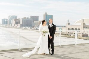 Couple on the Rooftop of One Atlantic in Atlantic City, New Jersey