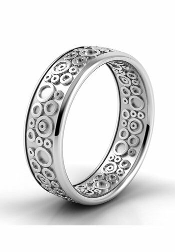 Danhov Classico Circle Band White Gold Wedding Ring