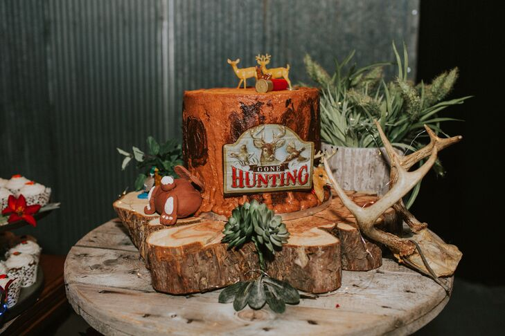 Groom's Cake with Hunting Theme