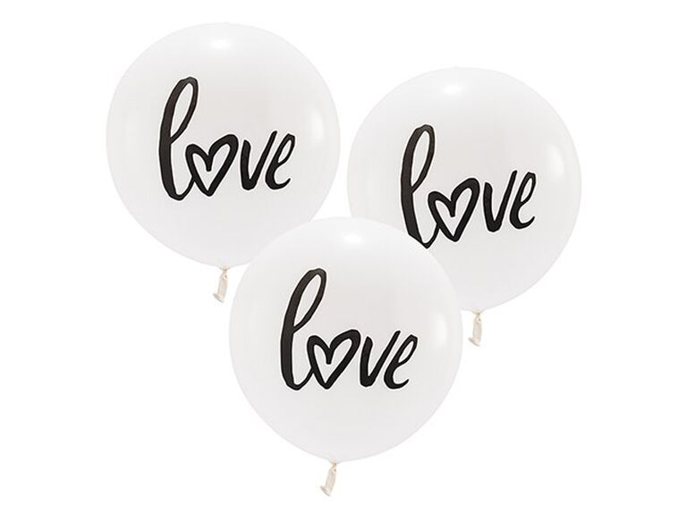 large white round wedding balloons