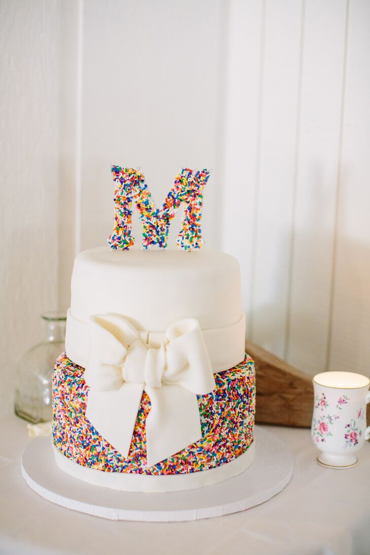 Colorful Candy Sprinkles Coated Cake