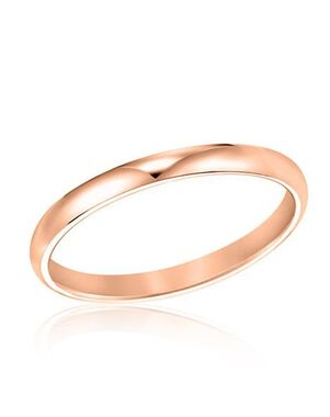 Rogers & Hollands® Ladies Comfort Fit Wedding Band Rose Gold, Gold Wedding Ring
