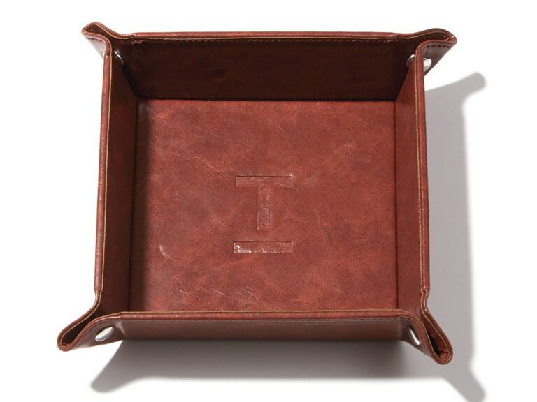 brown catchall tray