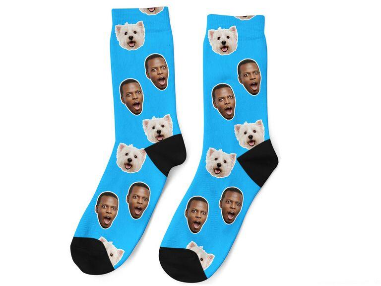 Custom socks photo gift idea