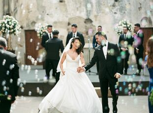 For their spring wedding, Blanca Velasquez and Delgis Mustafa whisked their friends and family off to Antigua, Guatemala, for a romantic affair with a