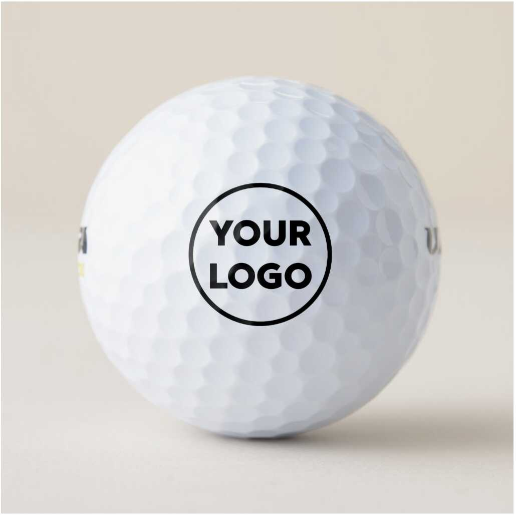 "model golf ball with ""Your Logo"""