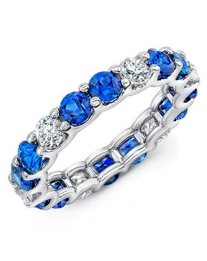 Uneek Fine Jewelry ETRD2BSD White Gold Wedding Ring