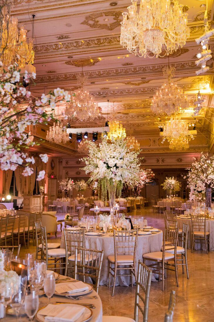 Glamorous Gold Ballroom Reception