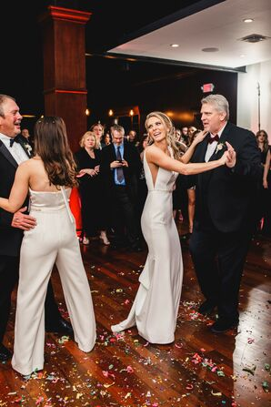 Same-Sex Brides Share a Dance with Their Fathers at The Kansas City Club in Missouri