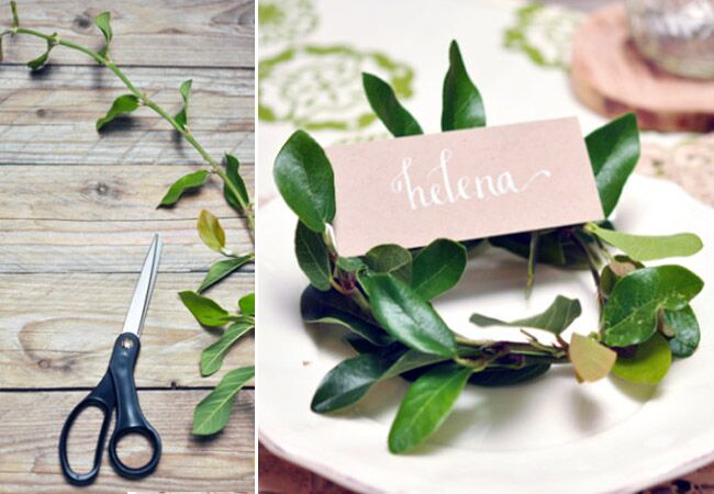 Wreath Place Card Holder