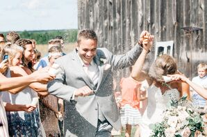 Rustic Ceremony Exit with Seed Toss