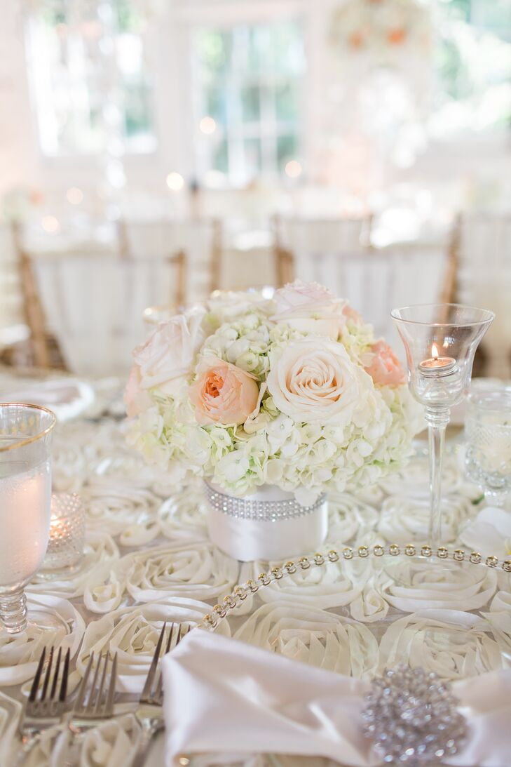 Classic Rose and Hydrangea Centerpiece