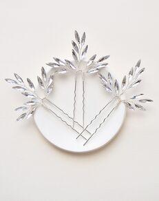 Dareth Colburn Cara Crystal Hair Pin (TP-2842) Silver Pins, Combs + Clip