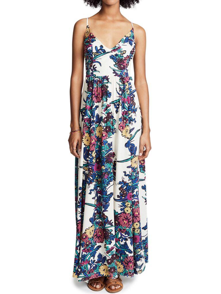 Free People casual bridesmaid maxi dress