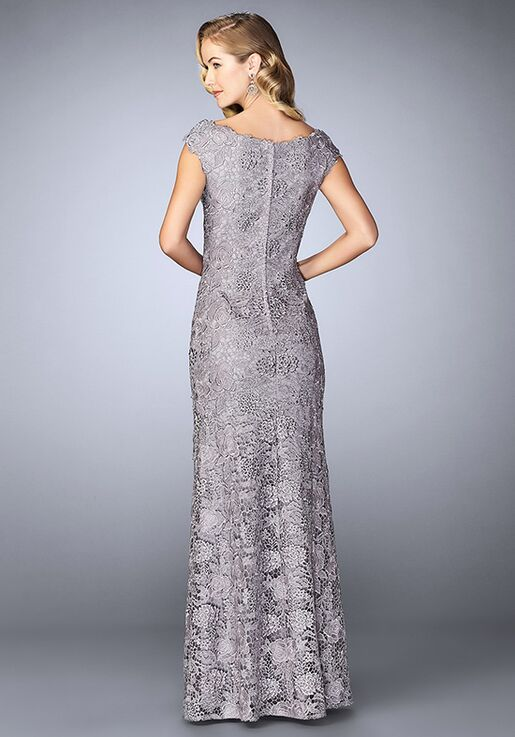 La Femme Evening 24860 Blue Mother Of The Bride Dress