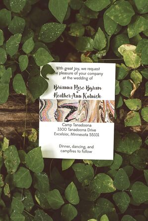 Boho Invitation Suite with Geode Design