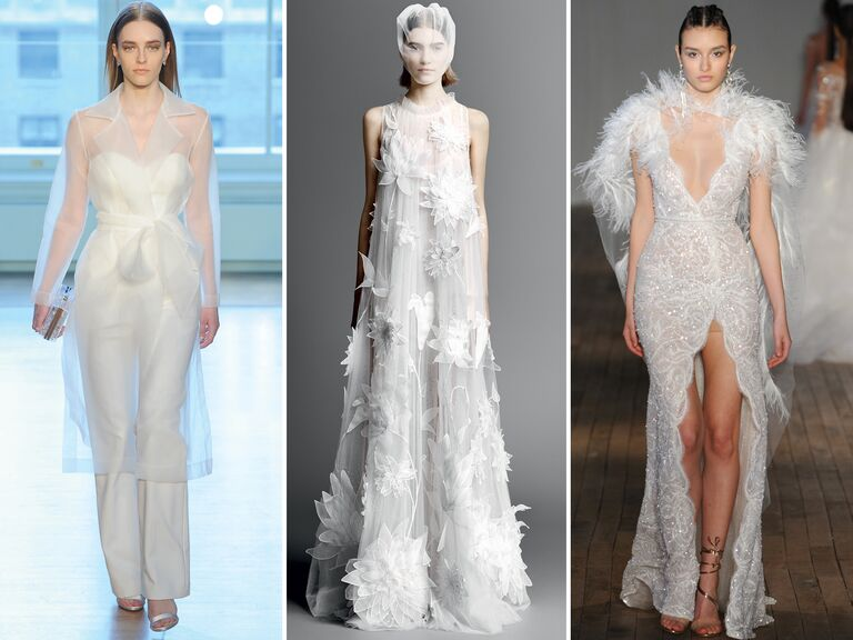 7307541cb28 Top Wedding Dress Trends From Spring 2019 Bridal Fashion Week