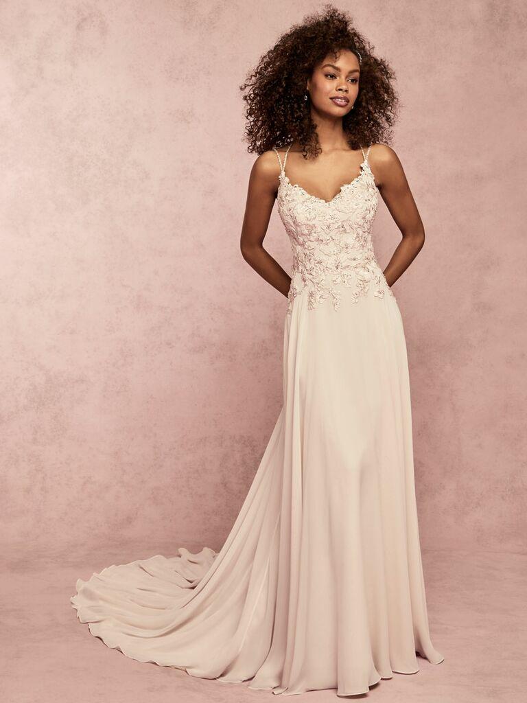 Rebecca Ingram Spring 2019 wedding dress with beaded bodice
