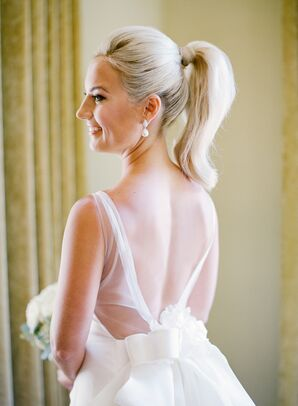 Deep V Illusion Back with Oversize Bow