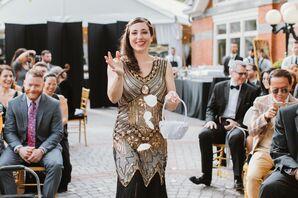Vintage-Glam Bridesmaid Dress