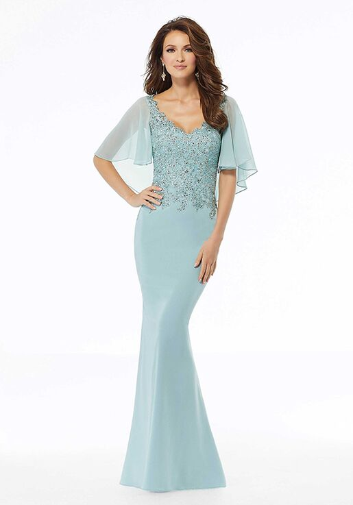 MGNY 72124 Gray Mother Of The Bride Dress