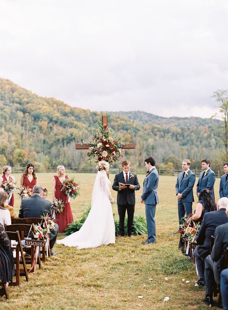 Romantic Autumnal Outdoor Ceremony