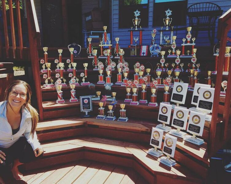 All of Alicia's accordion trophies