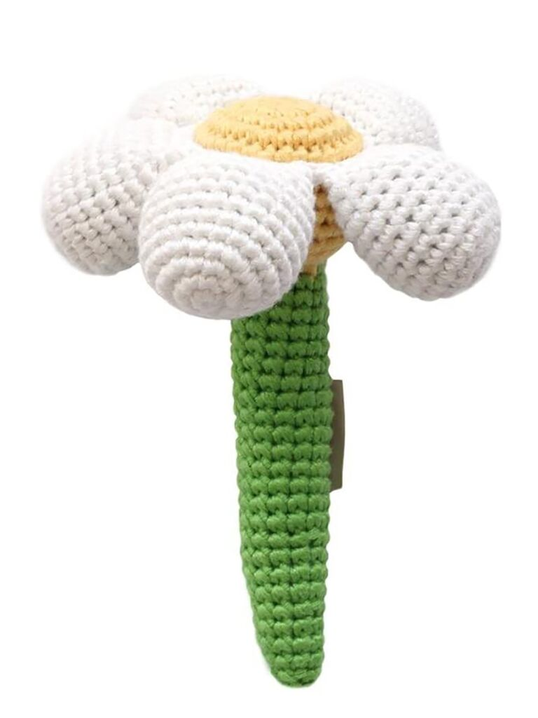Organic flower rattle for flower girl gift