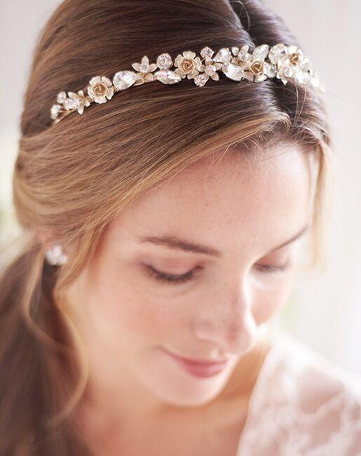 Dareth Colburn Alaina Floral Headband (TI-3371) Gold, Silver Headband