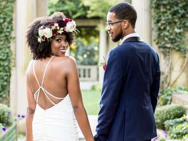 Natural Curls With a Bohemian Flower Crown