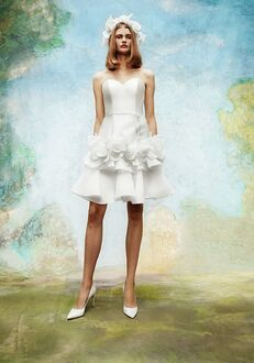 Viktor&Rolf Mariage WILD ROSES TIERED GOWN MINI A-Line Wedding Dress