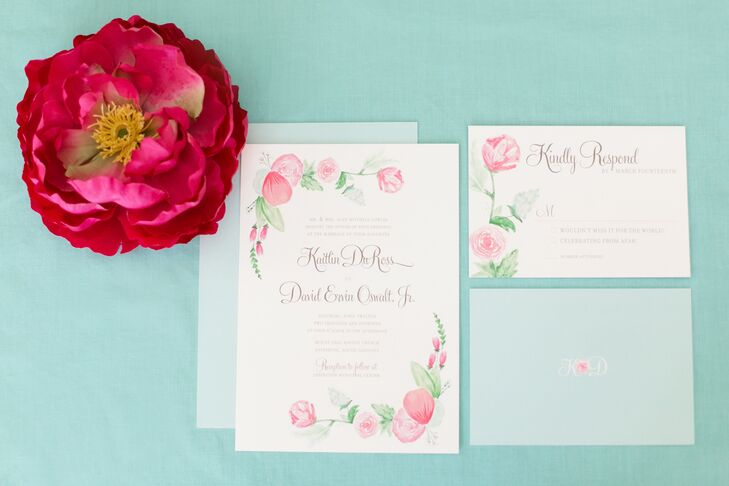 Pink Peony Watercolor Stationery