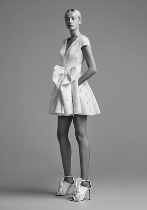 Viktor&Rolf Mariage CRYSTALLISED DRAPED BOW MINI A-Line Wedding Dress