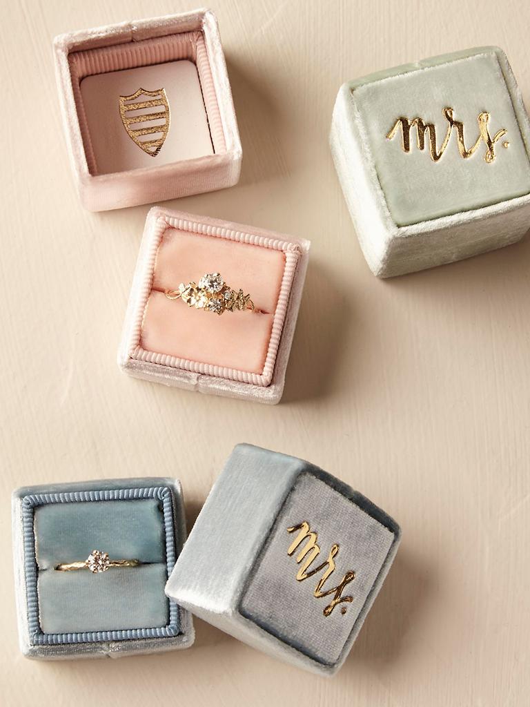 Engagement Ring Box Ideas Velvet