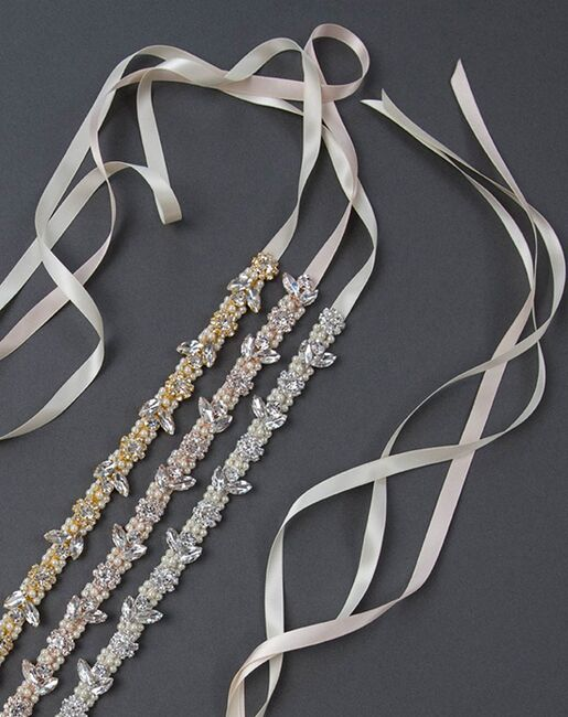 Davie & Chiyo | Sashes & Belts Amara Sash Gold, Ivory, Pink, Silver, White Sashes + Belt