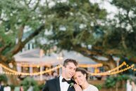 "Mary Henckels (26 and a baker) and Zachary Oster (28 and a physical therapist) said ""I do"" during a romantic garden wedding at Lowndes Grove Plantatio"