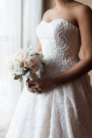Blush Rose and Lisianthus Bridal Bouquet