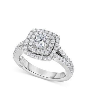 Macy's Fine Jewelry Glamorous Round Cut Engagement Ring
