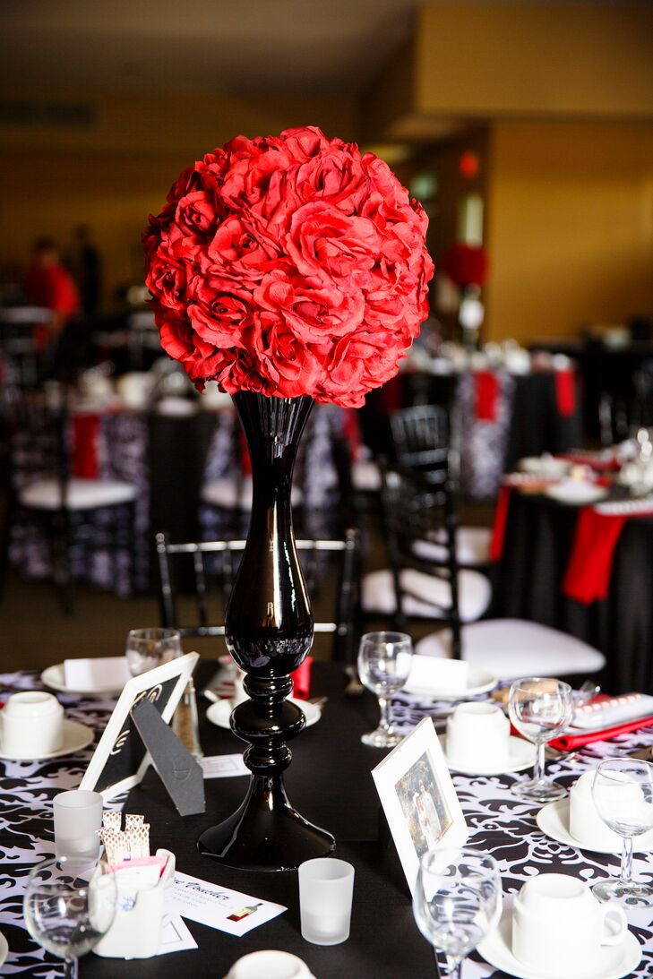 Red Rose Ball Centerpieces