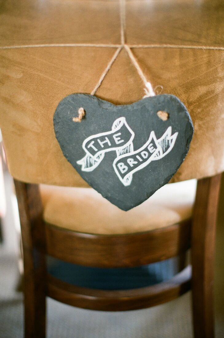 The Bride Chair Sign