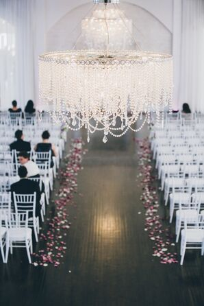 White Modern Wedding Ceremony