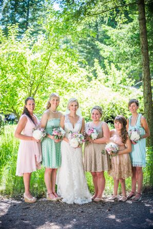 Mint, Neutral and Blush Bridesmaid Dresses