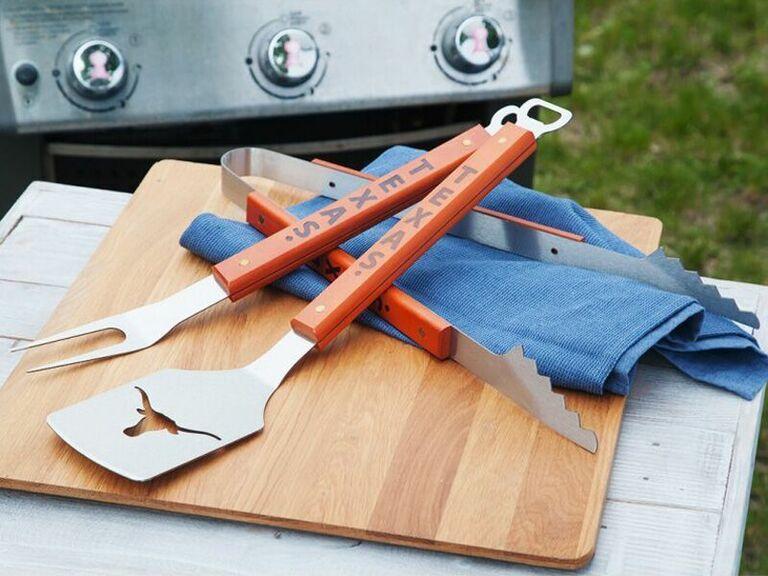 Sport memorabilia barbecue tools sixth anniversary gift idea