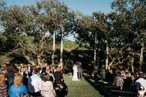 Casual Outdoor Ceremony at Liquid Art Winery and Estate
