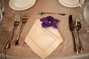 Purple Orchid Place Setting